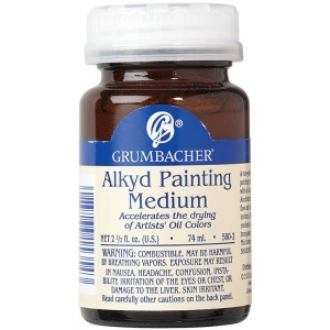 Grumbacher® Alkyd Painting Medium: Bottle, 2.5 oz, Alkyd, (model GB5802), price per each