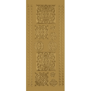"Blue Hills Studio™ DesignLines™ Outline Stickers Gold #33: Metallic, 4"" x 9"", Outline, (model BHS-DL033), price per pack"