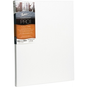 "Fredrix® PRO Dixie 16 x 20 Stretched Canvas Standard Bar 7/8"": White/Ivory, Sheet, Cotton, 16"" x 20"", Standard 7/8"", Stretched, (model T49015), price per each"