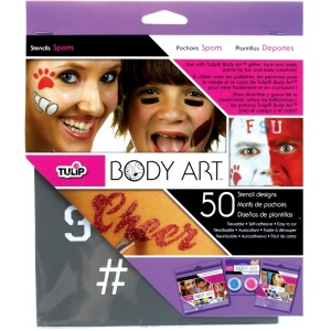 Tulip® Body Art™ Stencil Pack Sports: Multi, (model D28834), price per set