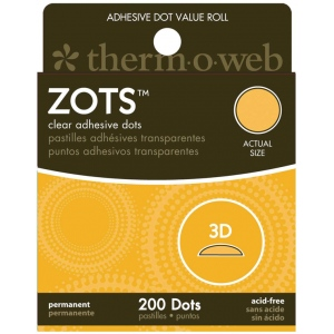 Therm O Web Zots™ Clear Adhesive Boxed Dots 3-D: Clear, Glue, Round, (model TW3786), price per box