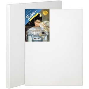 "Fredrix® Artist Series Blue Label 20"" x 24"" Blue Label Ultra Smooth Stretched Canvas: White/Ivory, Sheet, 20"" x 24"", 11/16"" x 1 9/16"", Stretched"