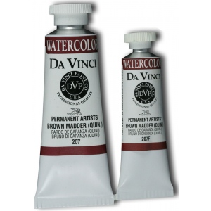 Da Vinci Artists' Watercolor Paint 15ml Brown Madder: Brown, Tube, 15 ml, Watercolor, (model DAV207F), price per tube