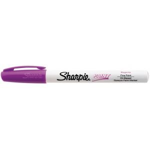 Sharpie® Oil Paint Marker Fine Magenta: Red/Pink, Paint, Fine Nib, (model SN35547), price per each