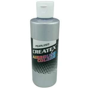 Createx™ Airbrush Paint 4oz Pearlescent Silver: Metallic, Bottle, 4 oz, Airbrush, (model 5308-04), price per each