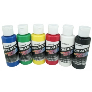 Createx™ Airbrush Opaque 6-Color Set: Multi, Bottle, 2 oz, Airbrush, (model 5803-00), price per set