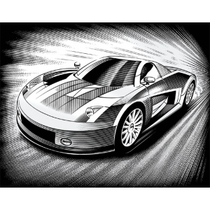 "Reeves™ Scraperfoil™ Scraperfoil Car: Metallic, 8"" x 10"", (model PPSF44), price per each"