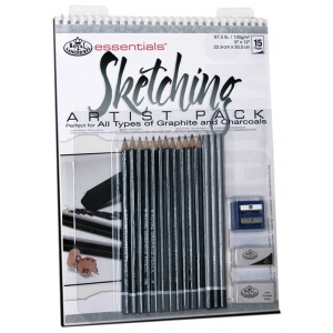 "Royal & Langnickel® Essentials™ Sketching Artist Pack: Wire Bound, Multi, 10 Sheets, 9"" x 12"", (model RD513), price per 10 Sheets"