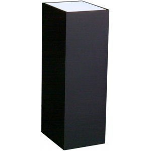 "Xylem Lighted Black Laminate Pedestal: 11 1/2"" x 11 1/2"" Base, 12"" Height"