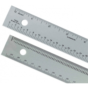 "Alumicolor® 12"" Aluminum Ruler: Metallic, Aluminum, 12"", Ruler, (model 4240-1), price per each"