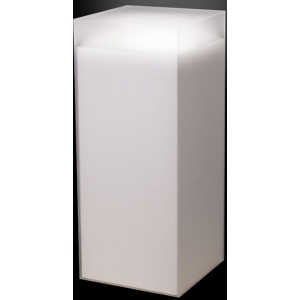 "Xylem Frosted Acrylic Pedestal: 9"" x 9"" Size, Table Top"