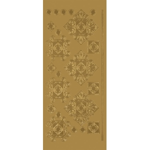 "Blue Hills Studio™ DesignLines™ Outline Stickers Gold #35: Metallic, 4"" x 9"", Outline"