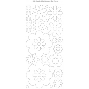 "Dazzles™ Double Stick Flowers: Black/Gray, 1 Sheet, Patterned, 4"" x 9"", Double-Stick, (model HOTP2038), price per each"