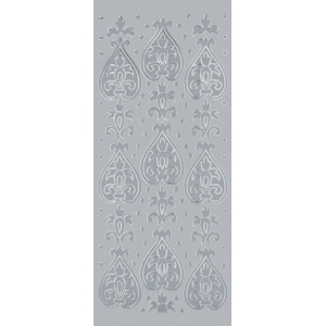 "Blue Hills Studio™ DesignLines™ Outline Stickers Silver #24: Metallic, 4"" x 9"", Outline"
