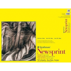 Strathmore® 300 Series Rough Tape Bound Newsprint Pad