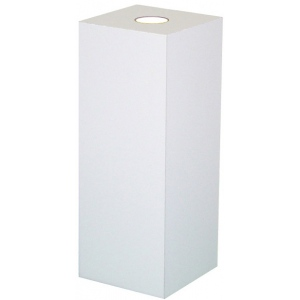 "Xylem White Laminate Spot Lighted Pedestal: Size 23"" x 23"", Height 12"""