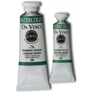 Da Vinci Artists' Watercolor Paint 37ml Viridian Green: Green, Tube, 37 ml, Watercolor, (model DAV290), price per tube
