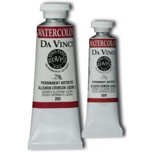 Da Vinci Artists' Watercolor Paint 37ml Alizarin Crimson : Red/Pink, Tube, 37 ml, Watercolor, (model DAV202), price per tube