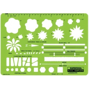 "Rapidesign® Landscape Template: 1/4"" = 1', (model 715R), price per each"