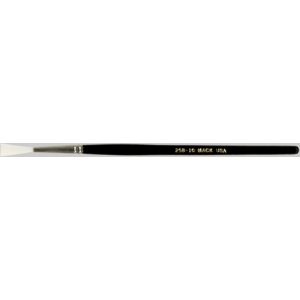 Mack Synthetic White Taklon Rigger Series 258: #10, Hair Length 13/16""