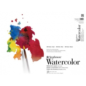Strathmore® 200 Series Cold Press Tape Bound Watercolor Pad