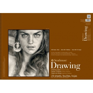 "Strathmore® 400 Series 18"" x 24"" Medium Surface Wire Bound Drawing Pad: Wire Bound, White/Ivory, Pad, 24 Sheets, 18"" x 24"", Medium"