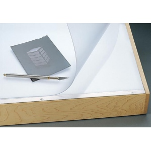 "Alvin® VYCO Translucent Board Cover 23"" x 31"" Sheet: Clear, White/Ivory, Sheet, Vinyl, 23"" x 31"""