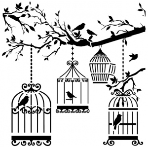 "The Crafter's Workshop 12"" x 12"" Design Template Birds of a Feather: 12"" x 12"", Patterned Stencil, (model TCW207), price per each"