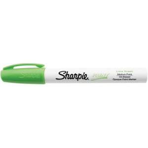 Sharpie® Oil Paint Marker Medium Lime: Green, Paint, Medium Nib, (model SN35561), price per each