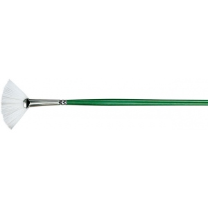 Princeton™ Better Synthetic Bristle Oil and Acrylic Brush Fan 2: Better, Long Handle, Synthetic Bristle, Fan, Acrylic, Oil, (model 6100FN-2), price per each