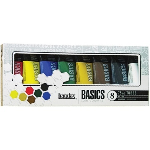 Liquitex® Basics Acrylic 8-Color Set: Multi, Tube, 75 ml, Acrylic