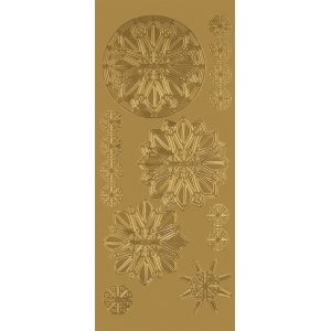 "Blue Hills Studio™ DesignLines™ Outline Stickers Gold #31: Metallic, 4"" x 9"", Outline, (model BHS-DL031), price per pack"