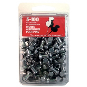 "Moore 5/8"" Push-Pins 100-Pack: 5/8"""