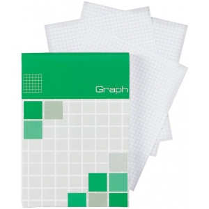 "Alvin® Saray Graph Pad 4.1 x 5.8: Pad, 5"" x 5"", 80 Sheets, 4.1"" x 5.8"", Graph, 20 lb, (model ALG13), price per 80 Sheets pad"