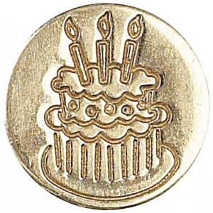 Manuscript Decorative Wax Sealing Coin Cake: Round, 15 mm, (model MSH727CAK), price per each