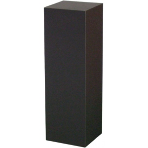 "Black Laminate Pedestal: 12"" x 12"" Base, 18"" Height"