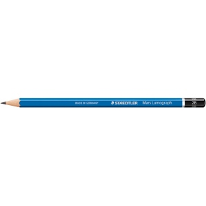 Lumograph® Drawing Pencil 5B: Black/Gray, 5B, Drawing, (model 100-5B), price per dozen (12-pack)