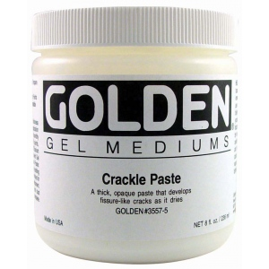 Golden® Crackle Paste 8 oz.: 236 ml, 8 oz, Texture, (model 0003557-5), price per each