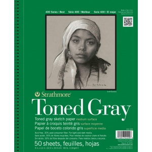 Strathmore® 400 Series Toned Gray Wire Bound Sketch Pad