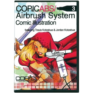 Copic® Airbrush System 3 Comic Illustrations DVD: DVD, (model ABSDVD3), price per each