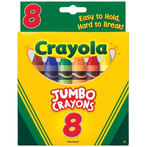 Crayola® Jumbo Crayon 8-Color Set: Multi, Stick, (model 52-0389), price per pack