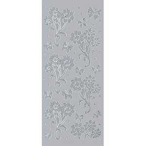 "Blue Hills Studio™ DesignLines™ Outline Stickers Silver #12: Metallic, 4"" x 9"", Outline"
