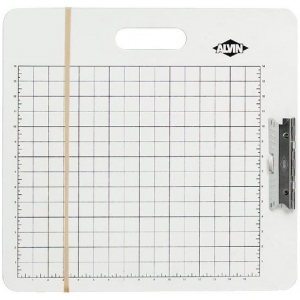 "Heritage Arts™ Gridded Sketch Board 18"" x 19"": White/Ivory, 18"" x 19"", Masonite, Drawing Board, (model GB1819), price per each"