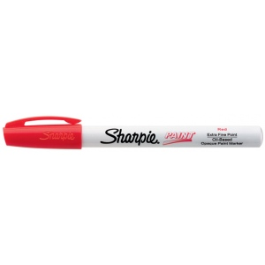 Sharpie® Oil Paint Marker Extra Fine Red: Red/Pink, Paint, Fine Nib