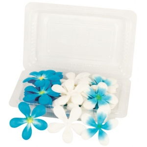 "Blue Hills Studio™ Irene's Garden™ Pack O'Plumerias Blue Splash: Blue, Paper, 2"", Dimensional, (model BHS107527), price per pack"