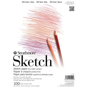 Strathmore® 200 Series Tape Bound Sketch Pad