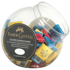 Faber-Castell® Color Kneaded Eraser Display: Manual, (model FC800060D), price per pack