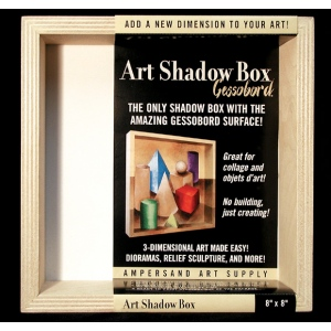 "Ampersand Art Shadow Box: 8"" x 8"", Case of 6"