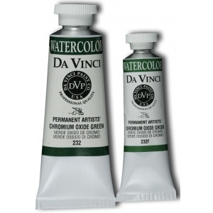 Da Vinci Artists' Watercolor Paint 15ml Chromium Oxide Green: Green, Tube, 15 ml, Watercolor