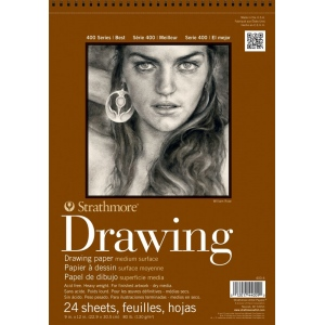 Strathmore® 400 Series Medium Surface Wire Bound Drawing Pad